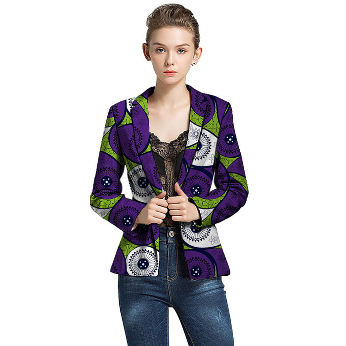 African print women blazers Ankara suit jackets dashiki coat tailored for ladies street wear African outfit - African Clothing Online