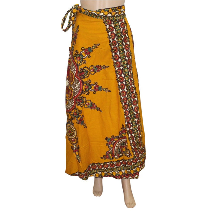 Dashikiage 2019 New Fashion African Print Long Skirt 100% Cotton Skirt with Belt