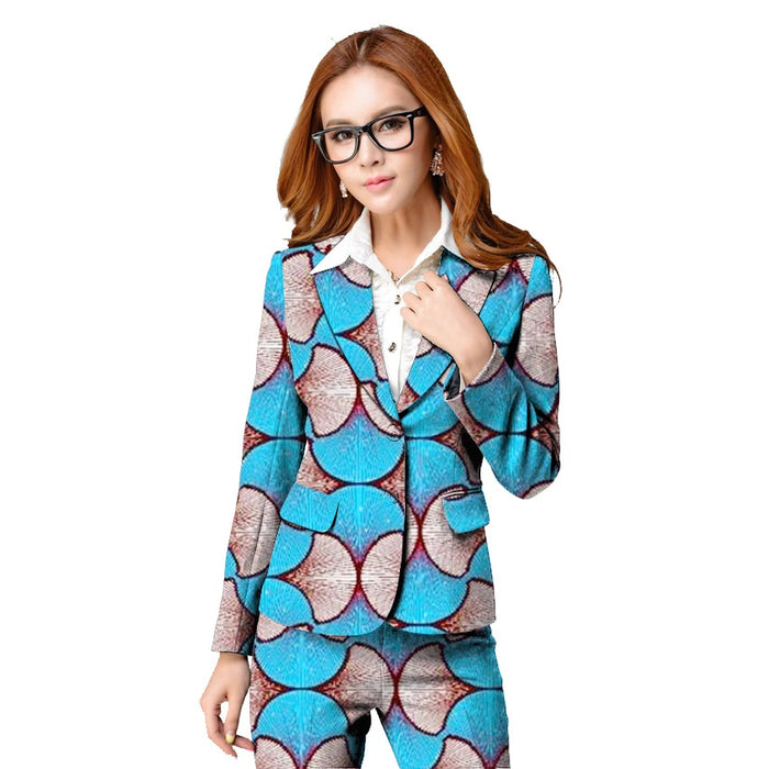 Fashion African Print Women Suit Jackets Africa Festive Ladies Women Tailored Blazers Jacket Party Cutomize Africa Clothes - African Clothing Online