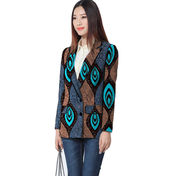 Fashion African Print Women Suit Jackets African Ladies Women Blazers Jackets Party Customized African Women Clothes - African Clothing Online