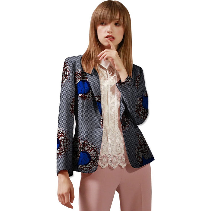 Fashion African print women blazers slim fit design dashiki clothes for ladies suit coat in Africa clothing - African Clothing Online