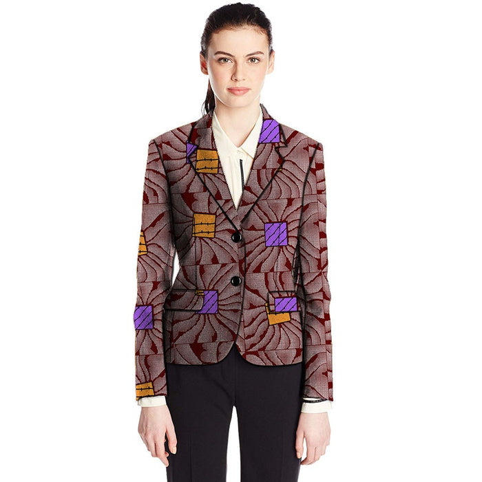 Fashion African women blazers slim fit dashiki clothes for ladies blazer coat elegant half sleeve suit jackets Africa clothing - African Clothing Online
