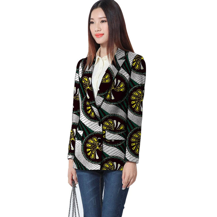 Fashion Blazer Women Outerwear Autumn African Women's Blazers Printing Fashion Ladies Lady office girl Coat Female