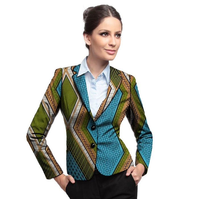 Fashion New arrivals African women pant suits for men Ankara print dashiki suits women's blazers wedding/perform wear - African Clothing Online