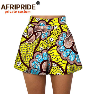 Casual short pants 100% cotton print pattern African afcol415