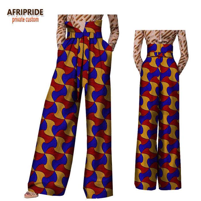 2020 African pants for women plus size wear trousers high waist full length back zipper pants