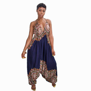 Dashiki Traditional African Print Jumpsuit Women Harem Romper
