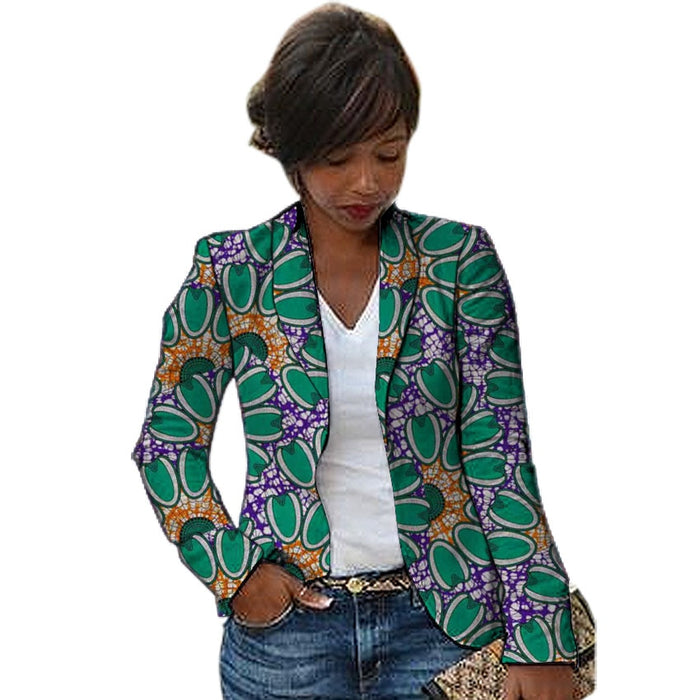 African fashion women blazers Shawl Collar design female dashiki print Ankara suit jackets custom made Africa clothing