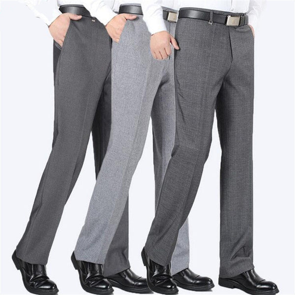 Covrlge Men's Suit Pants High Quality Men Dress Pants Silk Trousers Straight Business Mens Formal Pants Big Size 40 42 44 MKX005A - African Clothing Online