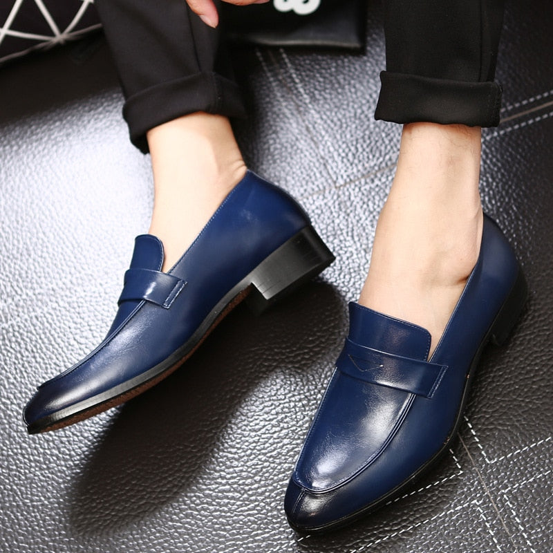 Yomior Bespoke Fashion Men Leather Shoes Handmade Men's Dress Brogue Shoe Classic Loafers Footwear Business Party Office Wedding