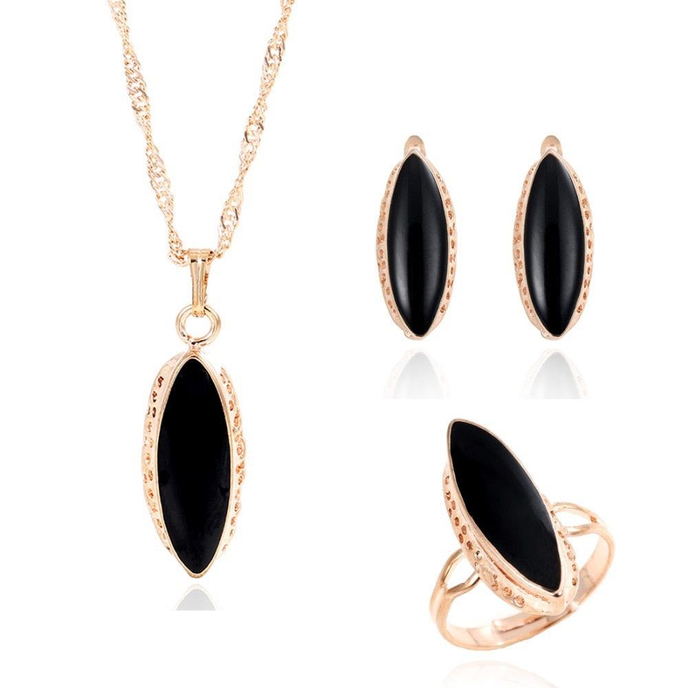 african-clothing-online,ZOSHI jewelry sets african bridal gold color necklace earrings Ring wedding crystal sieraden women fashion jewellery set,African Clothing Online,African Jewelry