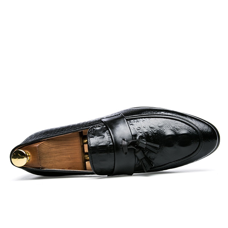 Men's Shoes Useful Mens Leather Shoes Italian Formal Fish Pattern Skin Dress Office Footwear Luxury Brand Fashion Elegant Oxford Shoes For Men Shoes