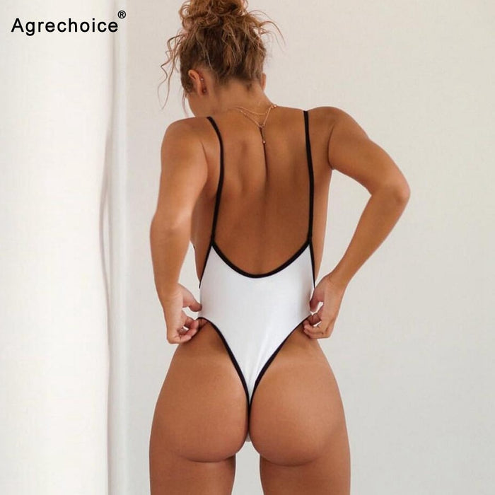 2020 New Sexy One Piece Swimsuit Women Swimwear Thong Monokini Swimsuit High Cut Backless Bathing Suits Swimming Suit For Women