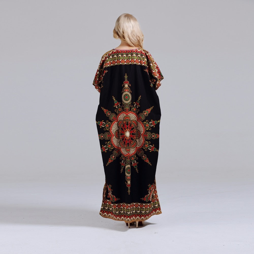 african-clothing-online,Dashikiage New Arrival Women's 100% Cotton African Print Dashiki Stunning elegant African Ladies Dress,African Clothing Online,