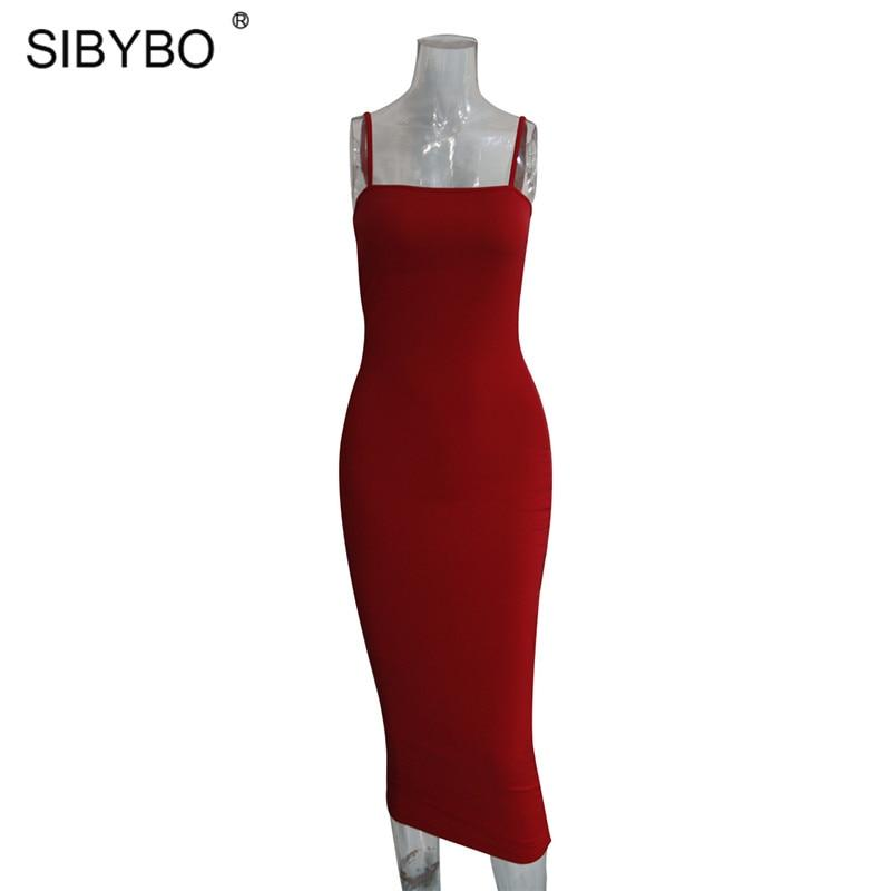 african-clothing-online,Sibybo Spaghetti Strap Backless Sexy Long Dress Party Off Shoulder Strapless Summer Maxi Dress Black Bodycon Party Dress Women,fireselldeals,