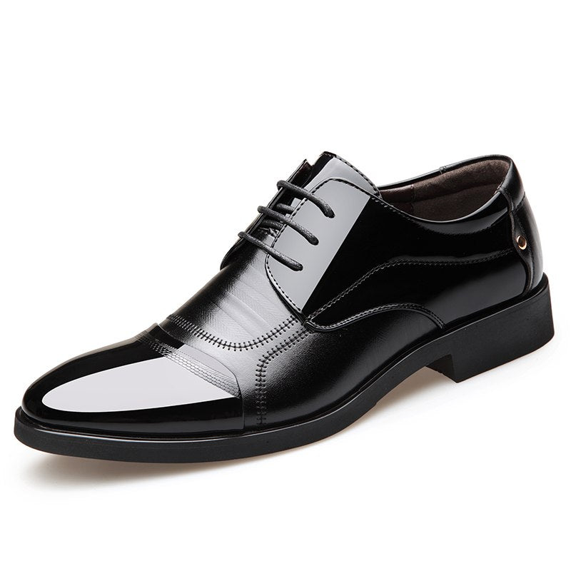 Misalwa Luxury Brand Patent Leather Men Business Wedding Dress Shoes Lace Up Breathable Oxfords Shoes Pointed Toe Zapatos Hombre - African Clothing Online