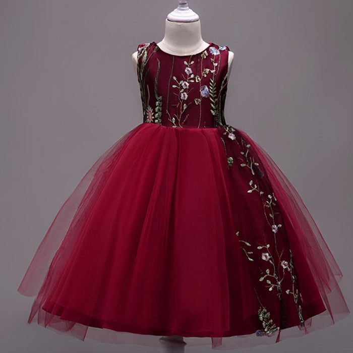 african-clothing-online,Teens Party Prom Dress Lace Wedding Flower Girl Dresses Kids Girls Elegant Princess Sleeveless Pageant Formal Dress(4T-10)10,African Clothing Online,