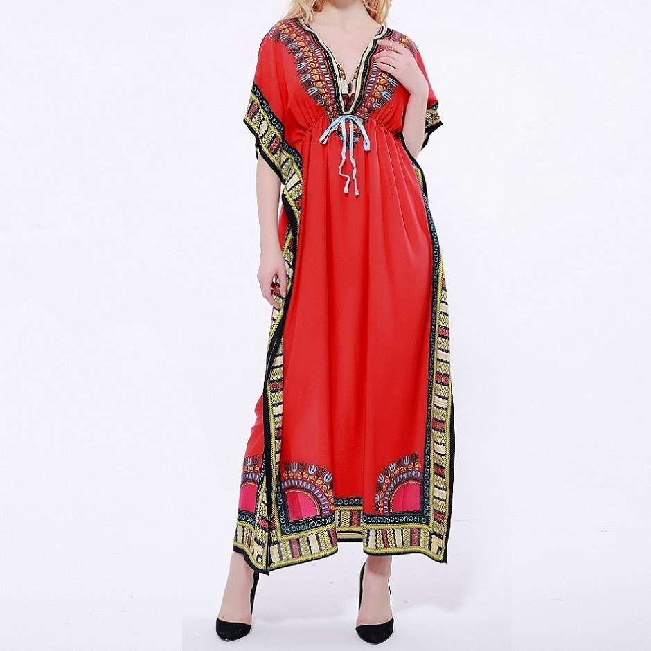 93971e5abe Dashikiage Women s Caftan Dress Kaftan dashiki Hippie Boho Maxi Gown Dress