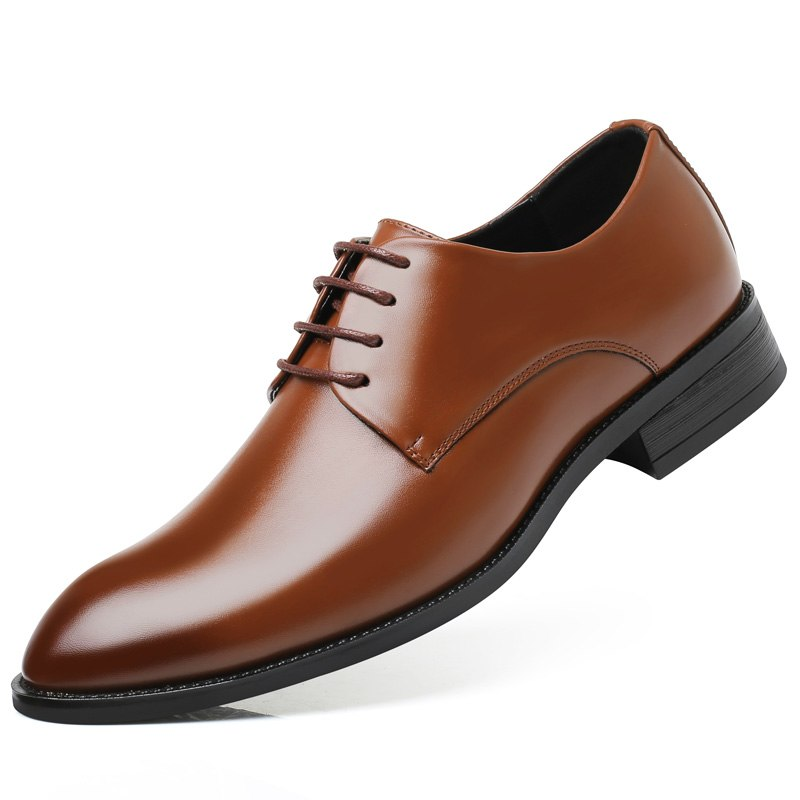 DXKZMCM Men Dress Shoes Men Formal Shoes Leather Luxury Wedding Shoes Men Oxford Shoes Big Size 38-47