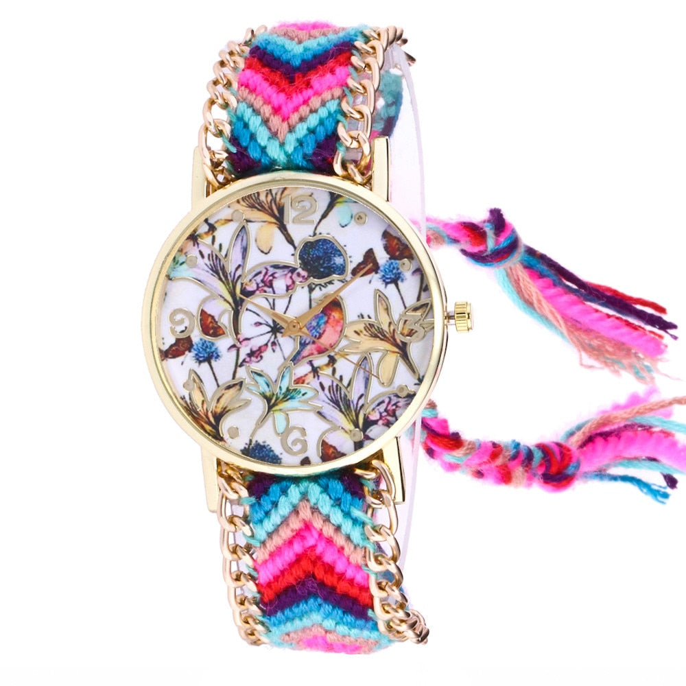 Dreamcatcher Friendship Bracelet Watch Ladies Rope Watch Quarzt Watches Relogio Feminino Dropshipping Handmade Braided @F