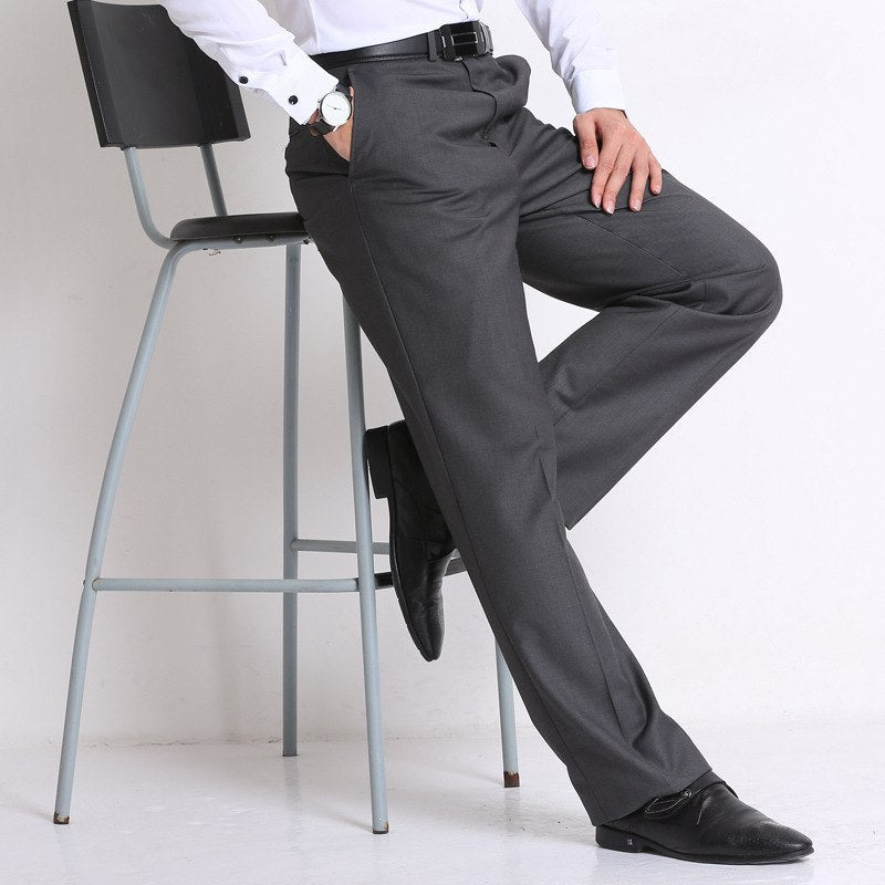 african-clothing-online,Classic Black Men's Business Suit Mens Loose Pants Middle Age Occupation Formal Trousers,African Clothing Online,