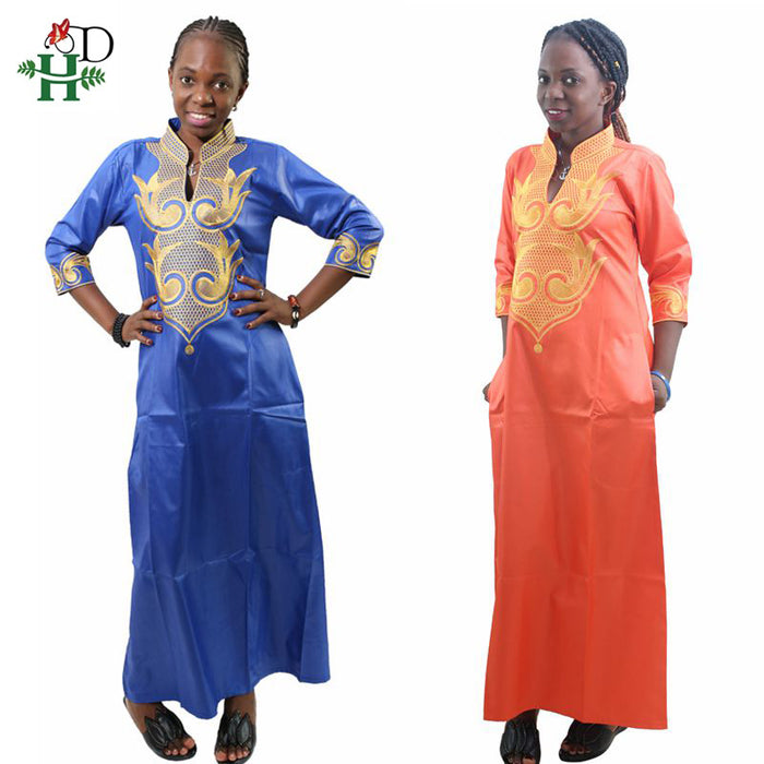 H&D 2019 All Dashiki African Cotton Dresses Top Bazin dress for women African Traditional Private African Custom Clothes dashiki