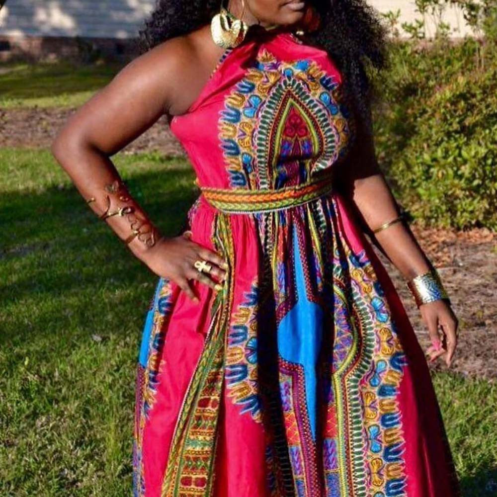 Free Ostrich Women Summer african dresses women Sexy Africa Print Dress Dashiki Sleeveless Long Maxi Dress vestidos D0335 - African Clothing Online