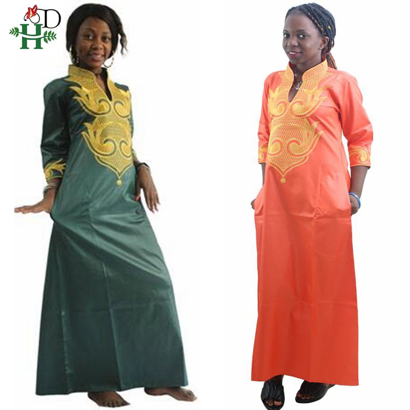 H&D 2019 All Dashiki African Cotton Dresses Top Bazin dress for women African Traditional Private African Custom Clothes dashiki - African Clothing Online