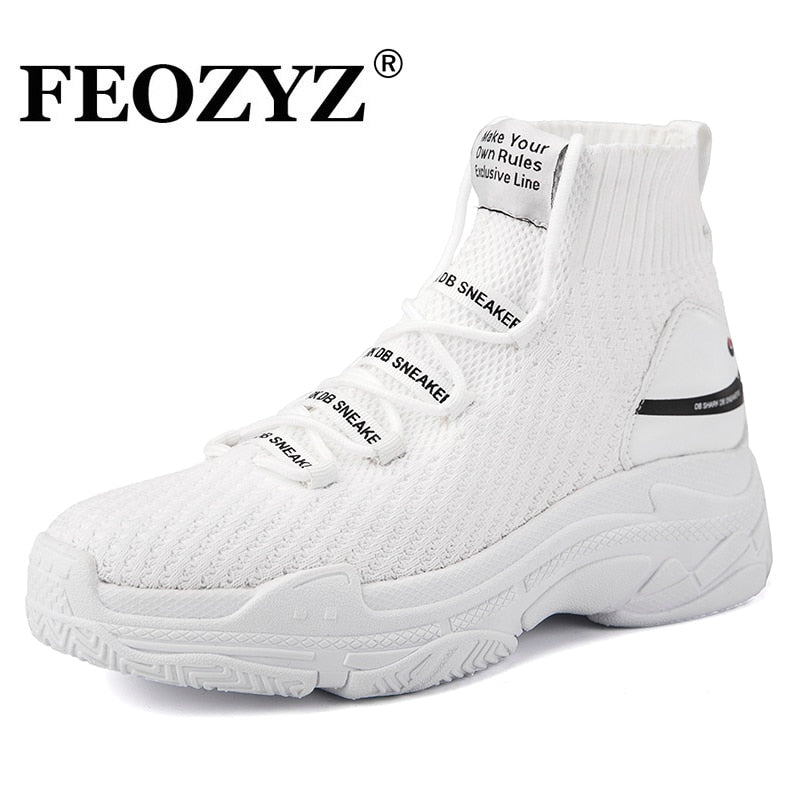 african-clothing-online,FEOZYZ Shark Sneakers Women Men Knit Upper Breathable Sport Shoes Chunky Shoes High Top Running Shoes For Men Women,African Clothing Online,