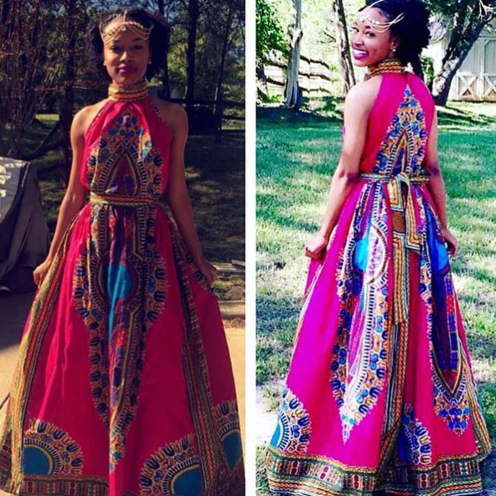 african-clothing-online,Free Ostrich Women Summer african dresses women Sexy Africa Print Dress Dashiki Sleeveless Long Maxi Dress vestidos D0335,African Clothing Online,