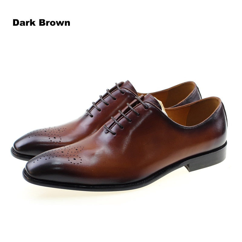 african-clothing-online,Italian Designer Cow Genuine Leather Formal Oxford Men Shoes Lace Up Pointed Toe Business Office Work Dress Shoes Male Footwear,African Clothing Online,
