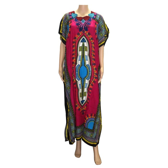 african-clothing-online,Dashikiage New Fashion Women Traditional African Print Dashiki Party Plus Size Long Dress,African Clothing Online,