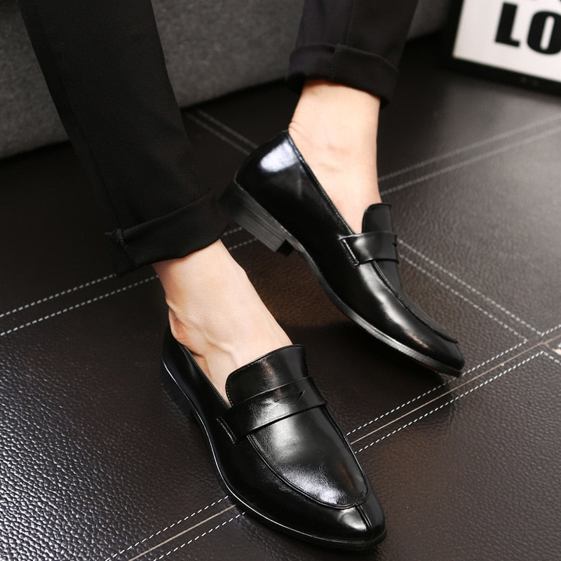 b0599ca1a56c ... Leather Shoes Handmade Men's Dress Brogue Shoe Classic Loafers Footwear  Business Party. Next
