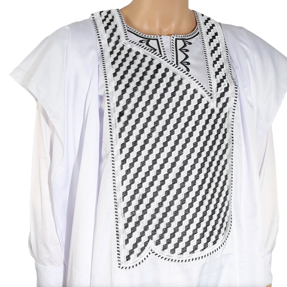 african-clothing-online,no cap african clothes men dashiki bazin riche suits tops shirt pant 3 pieces set embroidery white african mens clothing,African Clothing Online,matching couples