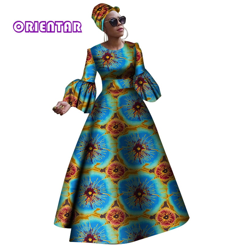 african-clothing-online,2019 African dresses for women New African dashiki rche dress for women Africa women long sleeves party dress plus size WY2868,African Clothing Online,