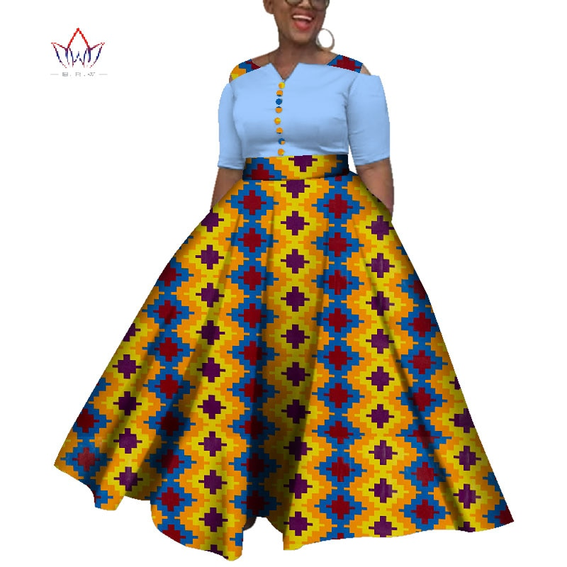 african-clothing-online,2019 Dashiki  African Dresses For  Women Colorful Daily Wedding Size S-6XL African Dresses For Women Ankle-Length Dress WY3853(2XL),African Clothing Online,