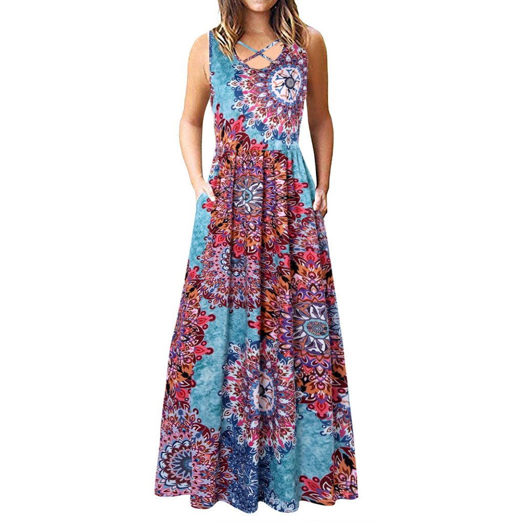 african-clothing-online,Women fashion Dresses Women Sleeveless Racerback and Long Sleeve Loose Plain Maxi Dresses Casual Dress,fireselldeals,