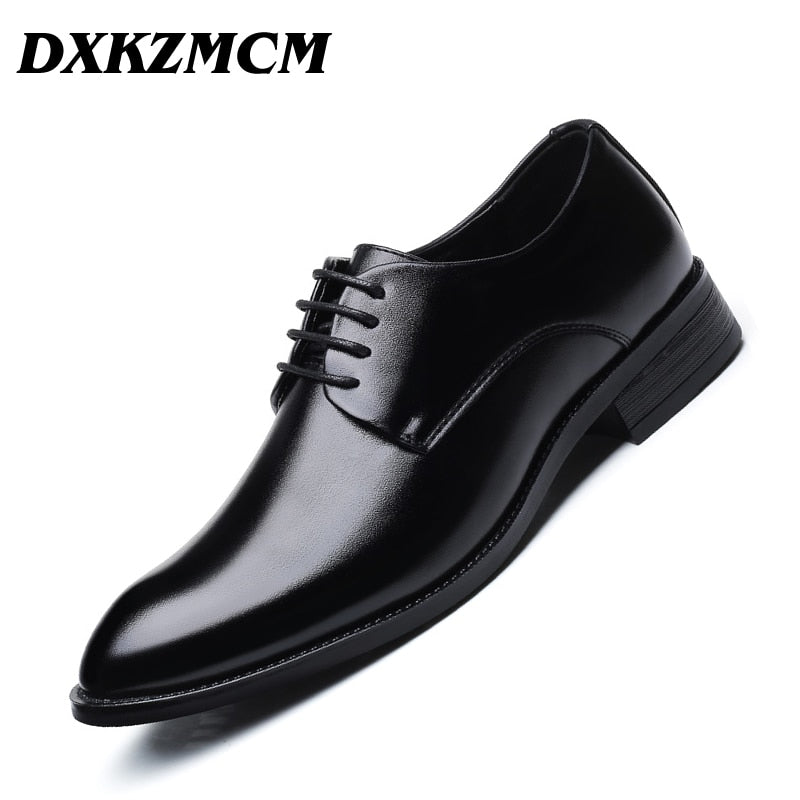 african-clothing-online,DXKZMCM Men Dress Shoes Men Formal Shoes Leather Luxury Wedding Shoes Men Oxford Shoes Big Size 38-47,African Clothing Online,