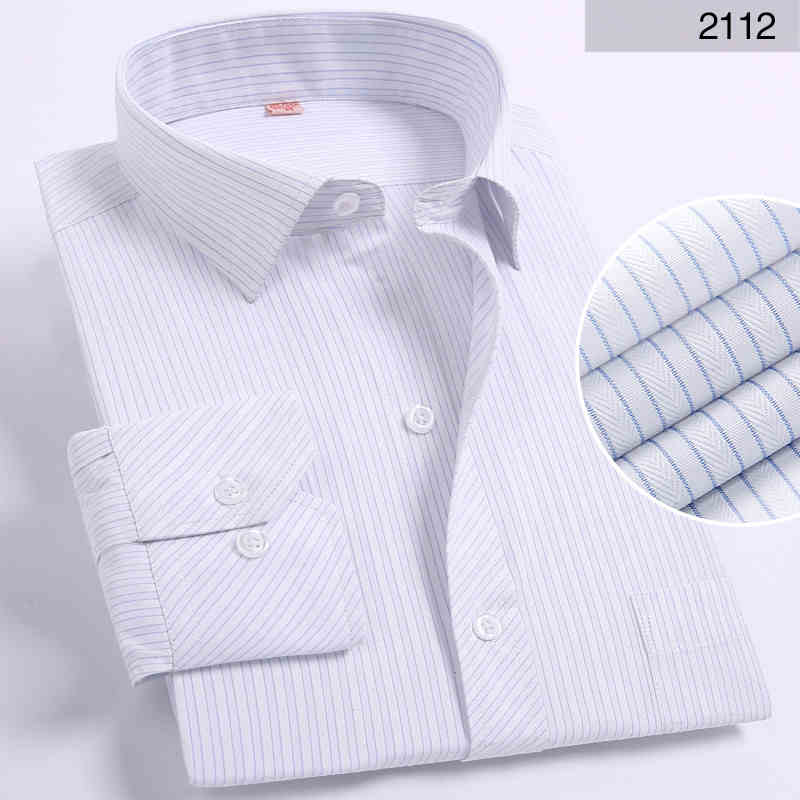 DAVYDAISY Hot Sale Spring Men Shirt Long Sleeved Striped Solid Plaid Male Business Shirt Brand Clothing Formal Shirt Man DS022 - African Clothing Online