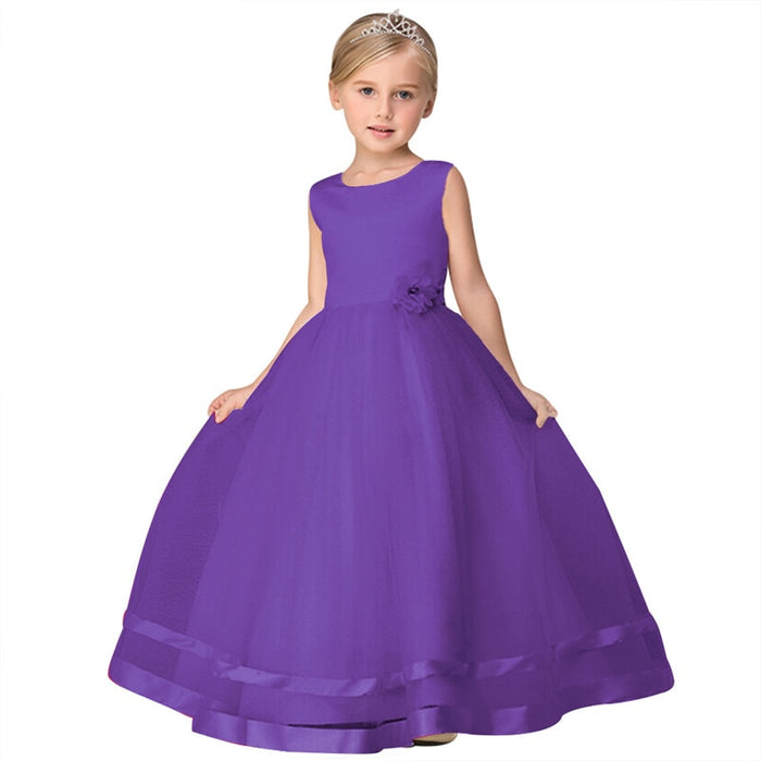 african-clothing-online,Elegant 2018 New Summer Flower Girl Dress Kids Baby Teen Wedding Party Princess Dress Prom Ankle-Length Floral Ball Gown Dress,African Clothing Online,