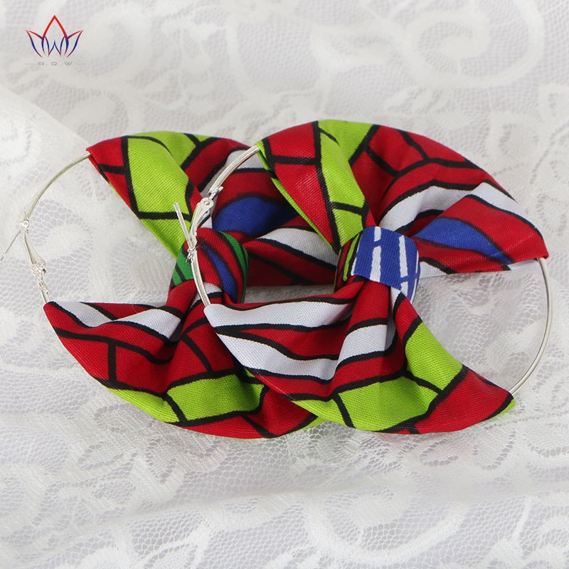 african-clothing-online,2017 Summer African Earrings Fashion Women Africa Handmade Statement Circle Jewellery Print Wax Fabric Accessories WYA078,African Clothing Online,