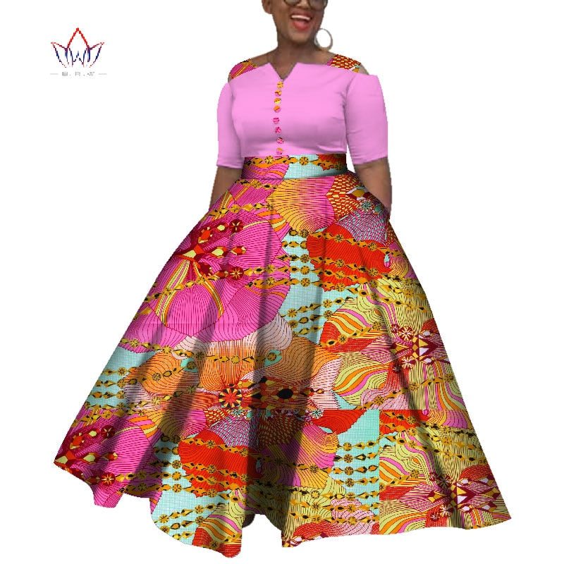 african-clothing-online,2019 Dashiki  African Dresses For  Women Colorful Daily Wedding Size S-6XL African Dresses For Women Ankle-Length Dress WY3853(M),African Clothing Online,