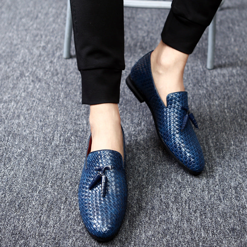 Yomior Men Shoes Luxury Brand Classic Fashion Formal Wedding Dress Shoes for Men Oxfords Zapatos Hombre Weaving Leather Shoes - African Clothing Online