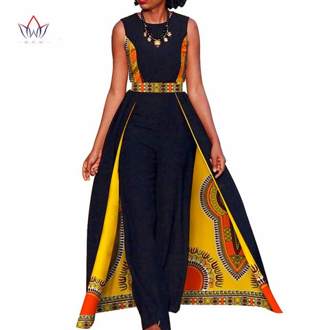 African Design Elegant Womens Rompers Jumpsuit Sleeveless