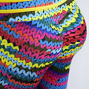 NADANBAO New Fashion  Knitting 3D Printed Leggings Women High Waist Workout Fitness Pants Plus Size Legging - African Clothing Online