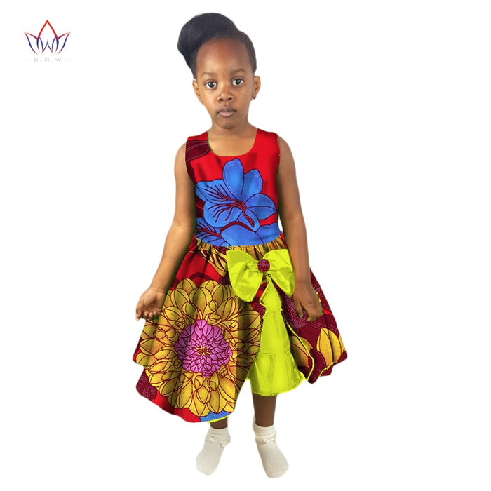New Fashion Summer Africa Children Clothing Dashiki Cute Girls Dresses African Traditional Clothing For Children ATT72