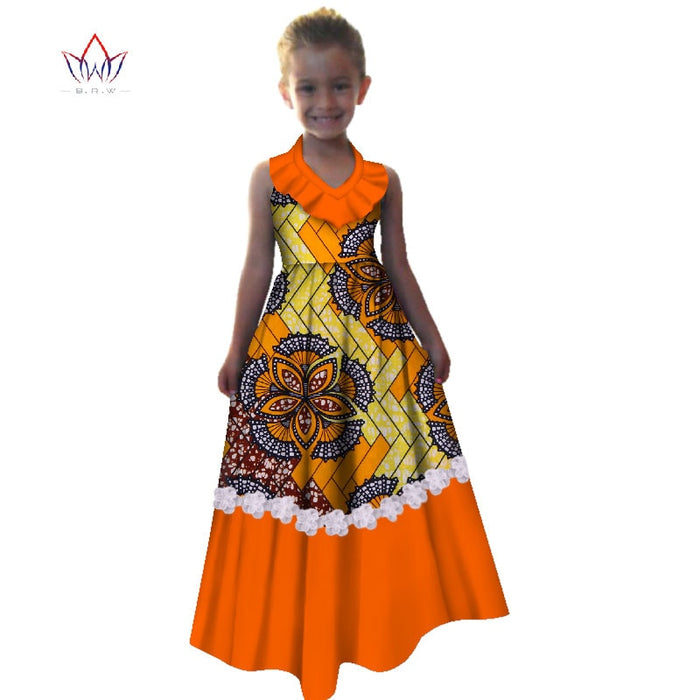 New Summer 2018 Africa Children Dress Dashiki European root yarn Cute Girls Dresses Sweet African traditional Clothing WYT245