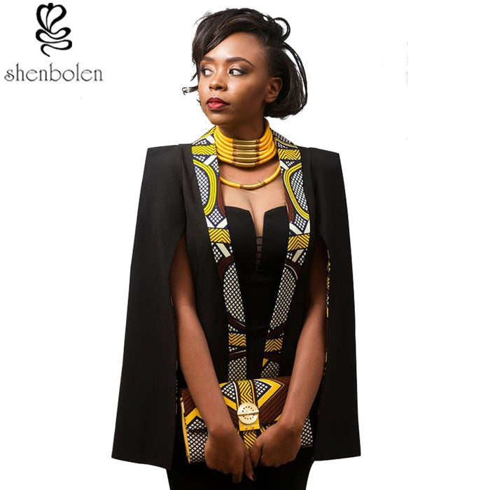 Shenbolen African Clothes for women Temperament and bead piece of leisure garments in the fashion cape coat - African Clothing Online