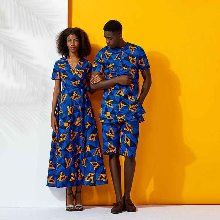 Shenbolen african couples clothes african dresses for women ankara clothing Print elegant dress traditional plus size