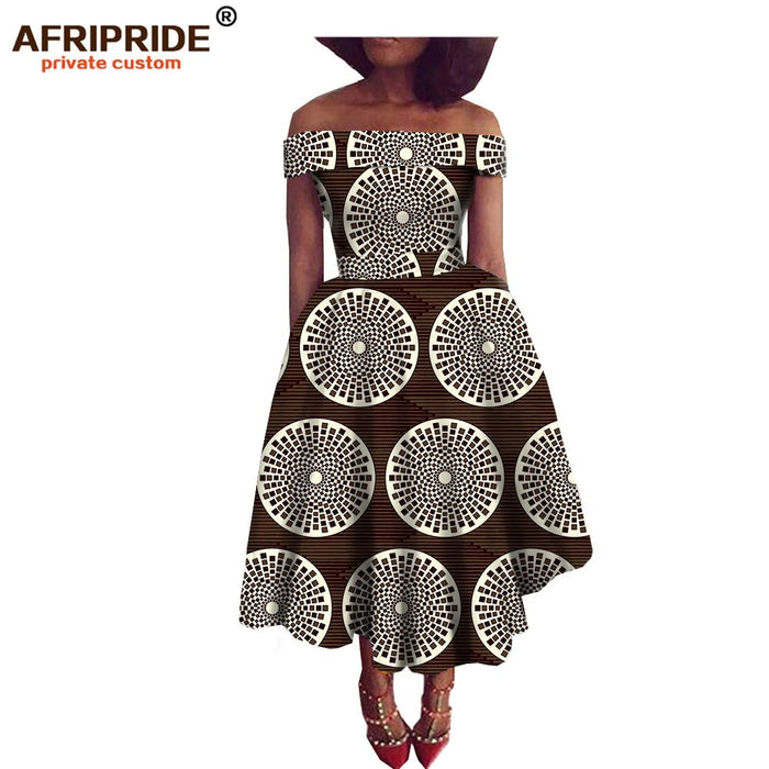 Super Deal 2018 New fabric pattern african style dress for women  traditional african clothing strapless dress plus size afcol156